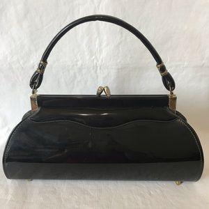 Vintage Black Patent Handbag